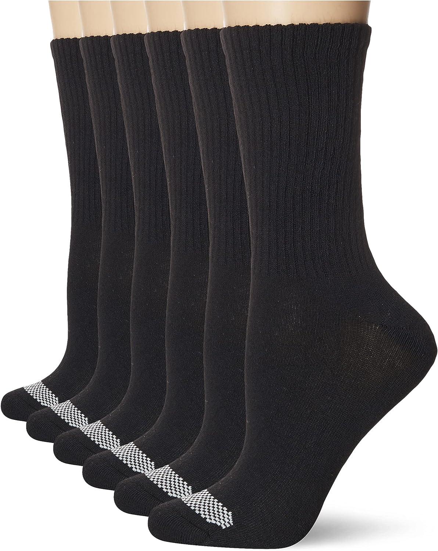Hanes Womens Breathable Comfort Toe Seam Crew Socks, 6-pair Pack
