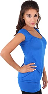 KRISP Women Jersey Tops Casual Stretch Short Sleeve T Shirt Tee