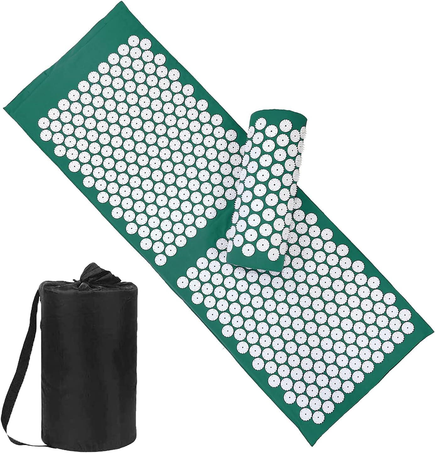 Acupressure Mat and Pillow Set 新作からSALEアイテム等お得な商品 満載 with Bag X 16.9 49.2 開店記念セール Large Size -