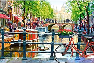 Diamond painting 5D DIY Diamond Painting Amsterdam Embroidery Cross Stitch 5D Home Decor Gift Full Square/Round Drill LKYC...