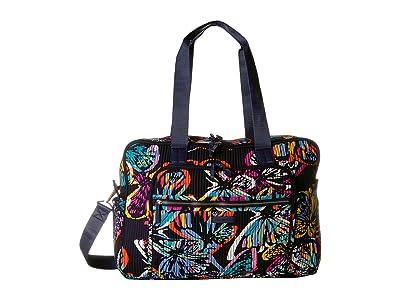Vera Bradley Iconic Deluxe Weekender Travel Bag (Butterfly Flutter) Bags