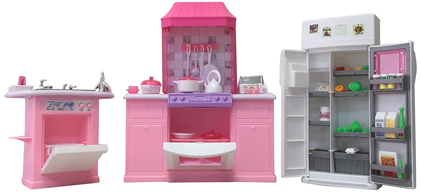 Gloria Dollhouse Furniture - Deluxe Kitchen Play Set b21776332