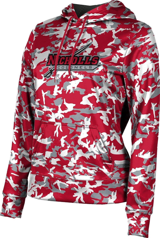 ProSphere Nicholls State University Girls' Pullover Hoodie, School Spirit Sweatshirt (Camo)