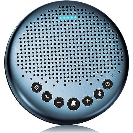 eMeet Luna Lite スピーカーフォン 会議用マイクスピーカー Bluetooth対応 Skype Zoom など対応 ノイズキャンセリング  VoiceIA技術 オンライン会議 テレワーク 在宅 会議用システム ウェブ会議 テレビ会議 ビデオ会議 PCマイク web会議スピーカー 双方向通話 全指向性集音マイク 連結機能 5-8名対応 360˚全方向集音 USB/AUX接続 高音質 Skype/ZOOM/Facetime通話アプリ対応 ブルー