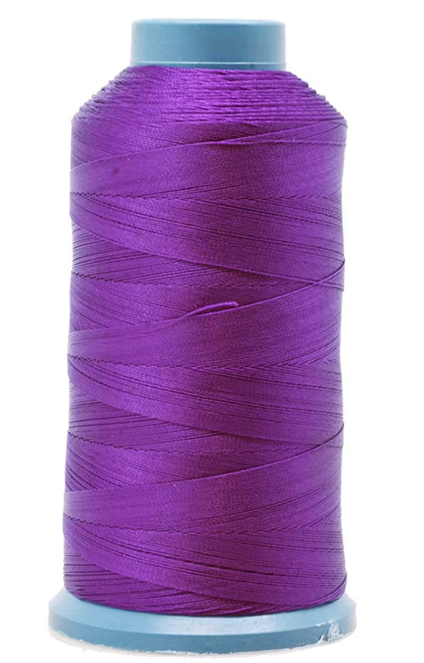 Mandala Crafts Bonded Nylon Thread for Sewing Leather, Upholstery, Jeans and Weaving Hair; Heavy-Duty; 1500 Yards Size 69 T70 (True Purple)
