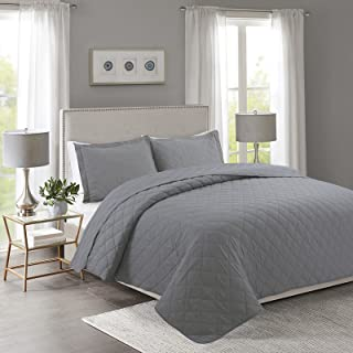 YESHOME Quilt Set Gray Twin Size(68