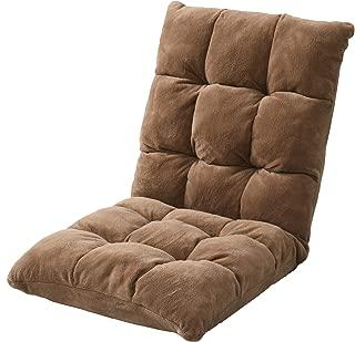 [山善] 座椅子 幅50×奥行60-104×高さ14-57cm もこもこ リクライニング ゆったり座れるサイズ 分厚い座部 完成品 ブラウン IMZS-50(BR) 【Amazon.co.jp限定】