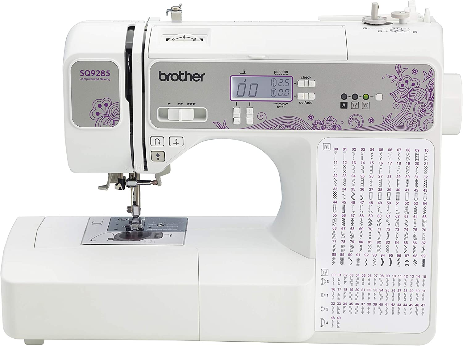 Brother Directly managed store 150-Stitch Computerized Sewing Max 45% OFF Quilting Machine Refur