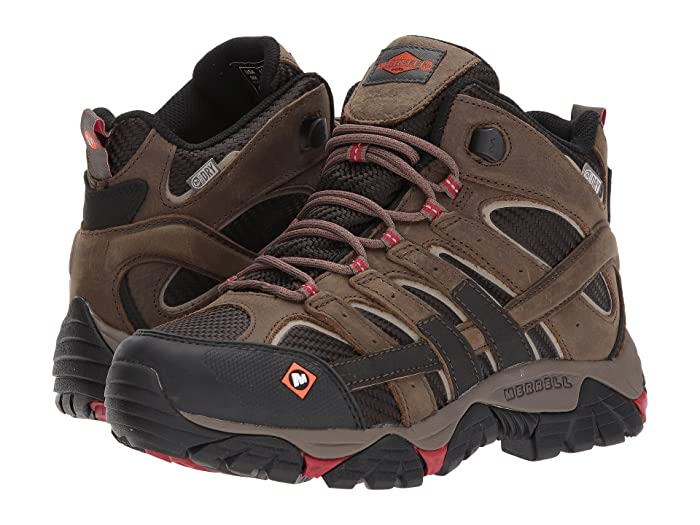 50268cbbe Merrell Work Moab 2 Vent Mid Waterproof SR | Zappos.com