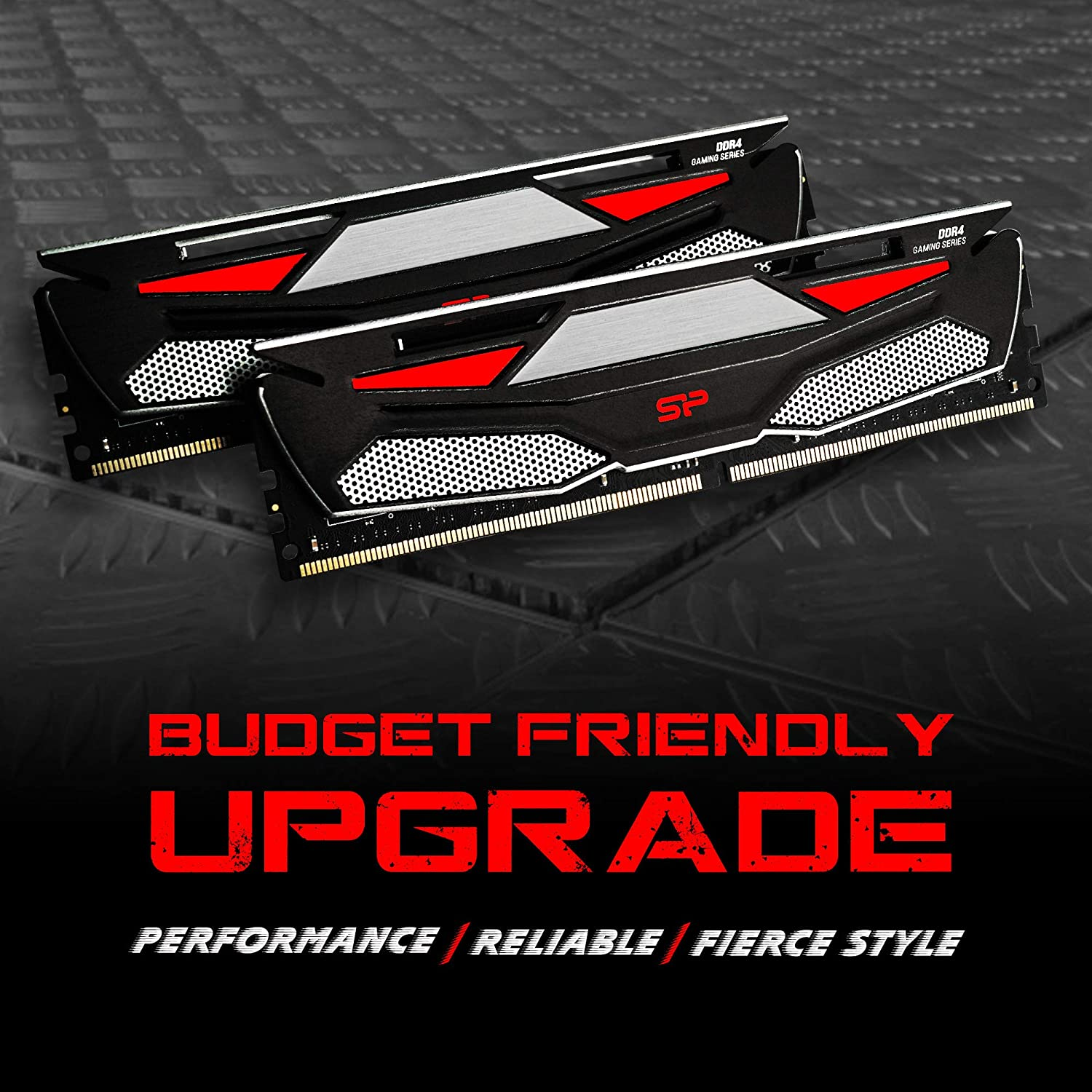 288-pin CL16 1.35V UDIMM Desktop Memory Module RAM 3200MHz PC4 25600 Low Voltage 8GBx2 Silicon Power Gaming Series DDR4 16GB