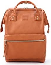 Kah&Kee Leather Backpack Diaper Bag with Laptop Compartment Travel School for Women..
