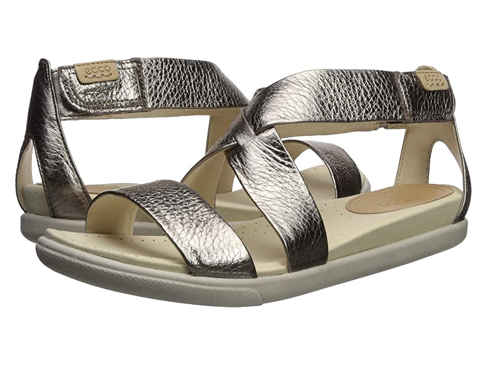 ECCO Damara Casual Sandal (Warm Grey Metallic Cow Leather) Women