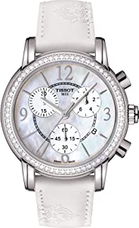 Tissot Women'S Mother Of Pearl Dial Leather Band Watch - T050.217.67.117.00