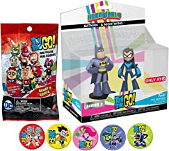 Funko BatNight Go Teen Titans HeroWorld Character Exclusive Figures Batman Nightwing & Mini Blind Bag Adventure Cartoon Toy Super Action Stickers! Robin, Starfire, Raven, Beast Boy & Cyborg 3 Items