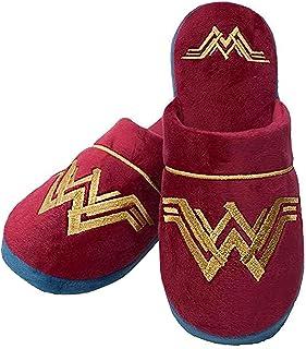 Wonder Woman DC Comics House Shoes Mujer/Señoras Red Logo Zapatillas