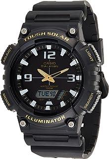 Casio Tough Solar Sports Men'S Black Dial Resin Band Watch Aq S810W 1Bv, Quartz, Analog