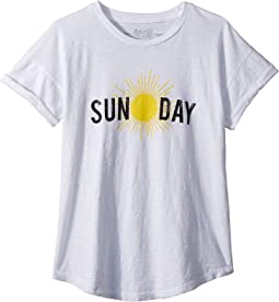 Sun-Day Slub Rolled Short Sleeve Tee (Big Kids)