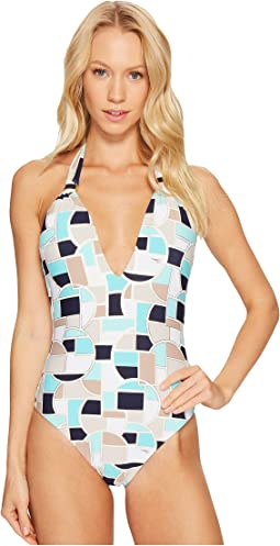 Trina Turk Disco Deco V-Plunge One-Piece
