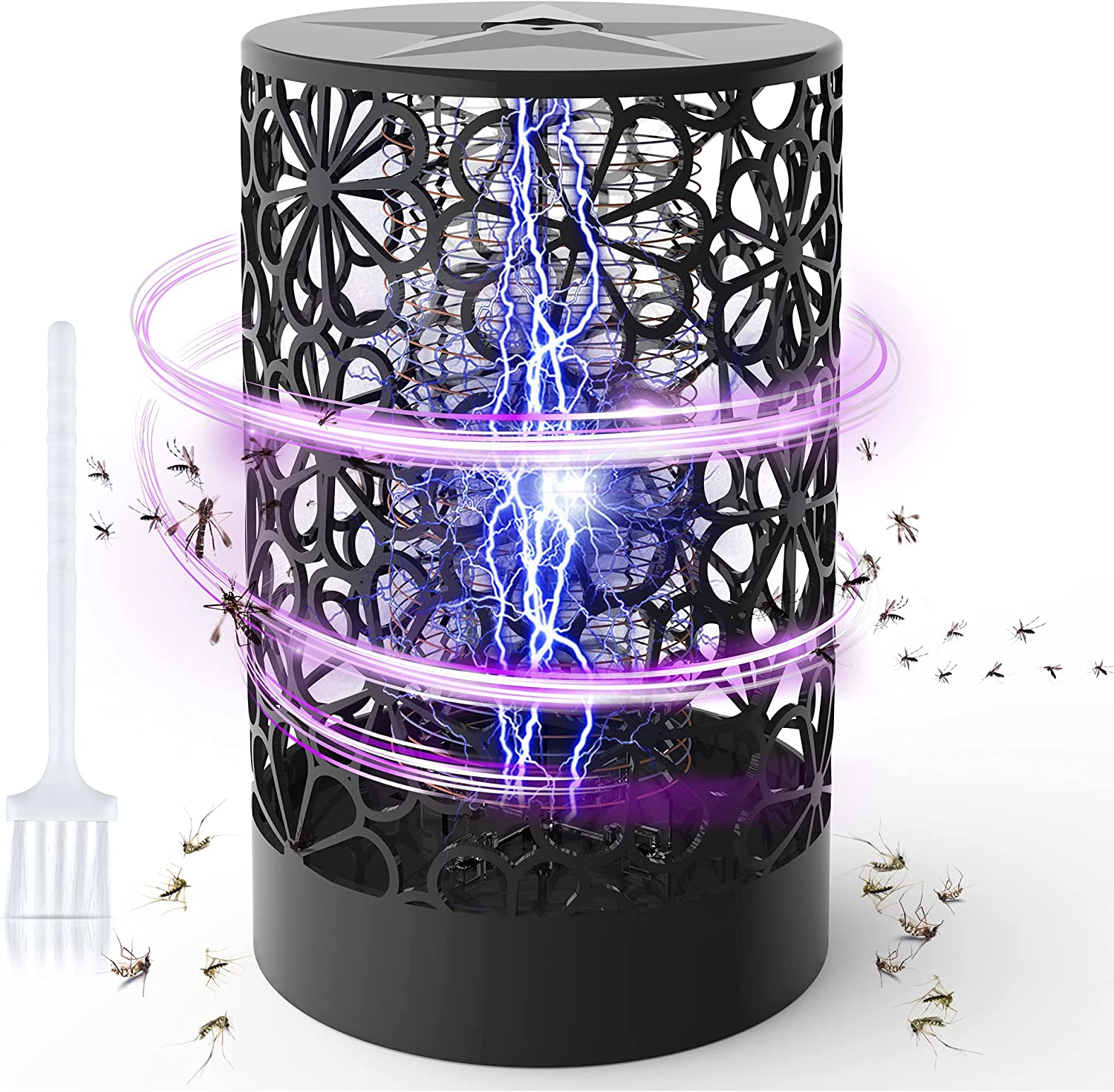Bug Zapper, 4200V Electronic Mosquito Zappers,Powerful Insect Killer ,Fly Trap Indoor for Indoor Home Bedroom, Kitchen, Office. (Black)