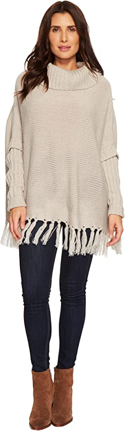 Dylan by True Grit - Cozy Knit Sweater with Rib and Fringe Details