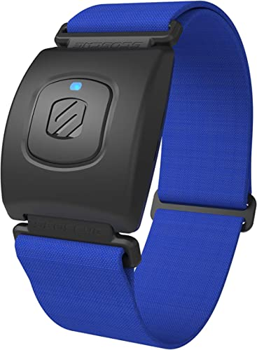 Scosche Rhythm+ Heart Rate Monitor Armband Optical Heart Rate Armband Monitor with Dual Band Radio ANT+ and Bluetooth...