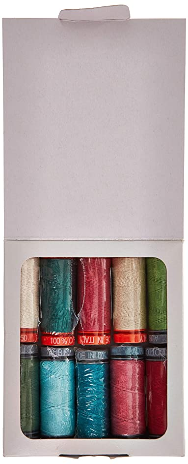 Nancy Rink Designs Painter's Garden Aurifil Thread Kit 5 50wt & 6 28wt Small Spools NR5028PG10