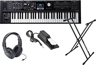 Roland VR-09 'V-Combo' 61-Note Live Performance Keyboard w/Sustain Pedal, Double X Stand, and Headphones