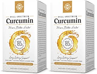 Solgar Full Spectrum Curcumin Liquid Extract, 60 Softgels - 2 Pack - Faster Absorption - Brain, Joint & Immune Health - Long Lasting Support - Non GMO, Gluten Free, Dairy Free - 60 Servings Per Pack