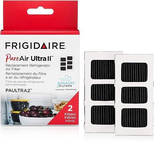 "Frigidaire PAULTRAII2PK PAULTRA2 Pure Air Ultra II 2 Pack Air Filter, 3.8"" x 1.8"", 2 Count"