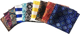 Men's 10 Pack Polka Dot Paisley Assorted Pocket Square Silk Handkerchief
