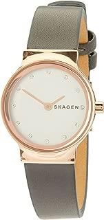 Skagen Freja Grey Stainless Steel & Leather Watch SKW2669