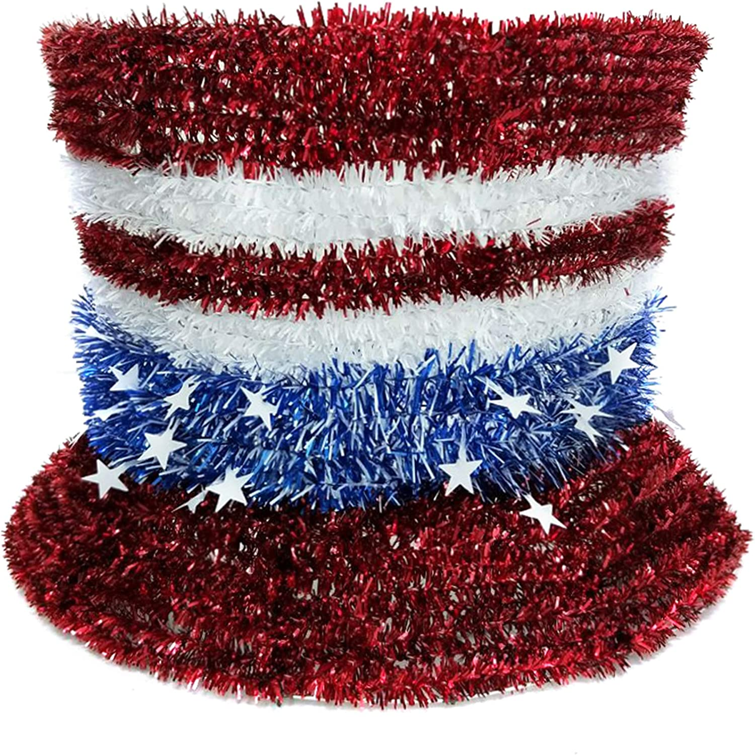 Brite Star 100% quality warranty! Patriotic Tinsel safety White Blue Red
