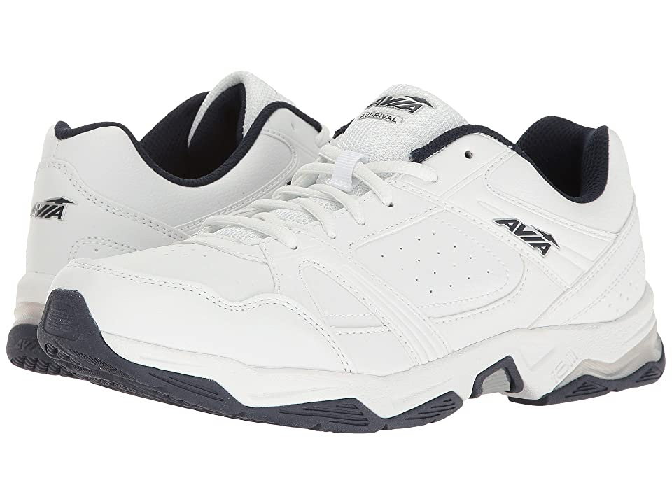 Avia Avi-Rival (White/True Navy/Chrome Silver) Men