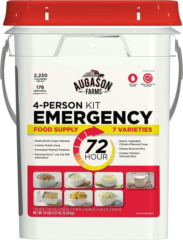Augason Farms 5-20100 72-Hour 4-Person Emergency Food Storage Kit 14 lbs 7 oz