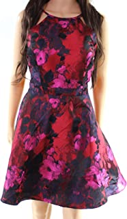 Xscape Womens Petites Halter Printed Party Dress