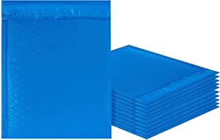 Amiff Blue Poly bubble mailers 8.5 x 11 Padded envelopes 8 1/2 x 11. Pack of 10 Poly cushion envelopes. Exterior size 9 x 12 (9 x 12). Peel and Seal. Mailing, shipping, packing, packaging.