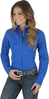 Wrangler Women's Western Yoke Two Snap Flap Pocket Shirt