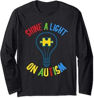 Autism Awareness Shine a Light On Autism Long Sleeve T-Shirt
