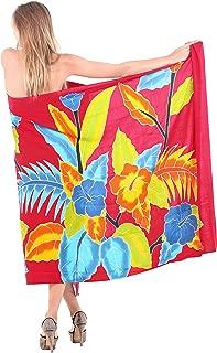 Women's Beach Cover Up Bikini Sarong Swimsuit Wrap Skirts Hand Paint