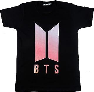 Futbolkit Camiseta Diseño Original del Grupo Musical BTS en Color Negro Talla Adulto Algodón 100%