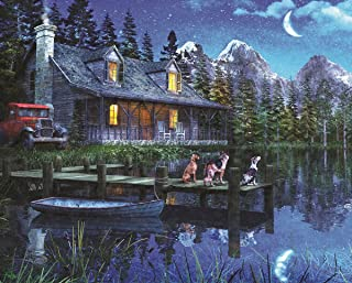 Springbok Puzzles - Moonlit Night - 1000 Piece Jigsaw Puzzle - Large 24 Inches by 30 Inches Puzzle - Made in USA - Unique ...