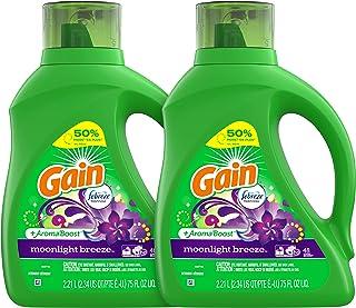 Gain Liquid Laundry Detergent, Moonlight Breeze, 2 Count, 75 fl oz Each, 96 Total Loads