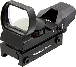 Survival Land Advanced Targeting Reflex Sight with 4 Selectable Illuminated Red or Green Target Reticle - Great for Hunting, Paintball, or Target Practice