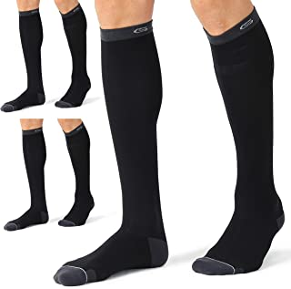 CELERSPORT 3 Pairs Compression Socks 20-30mmHg for Men and Women Nursing Socks