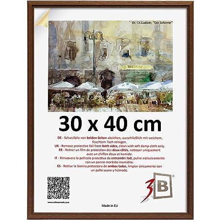 3 B Bilderrahmen Jena Dunkel Braun 30x40 Cm Holzrahmen Fotorahmen Portraitrahmen Mit Plexiglas Küche Haushalt