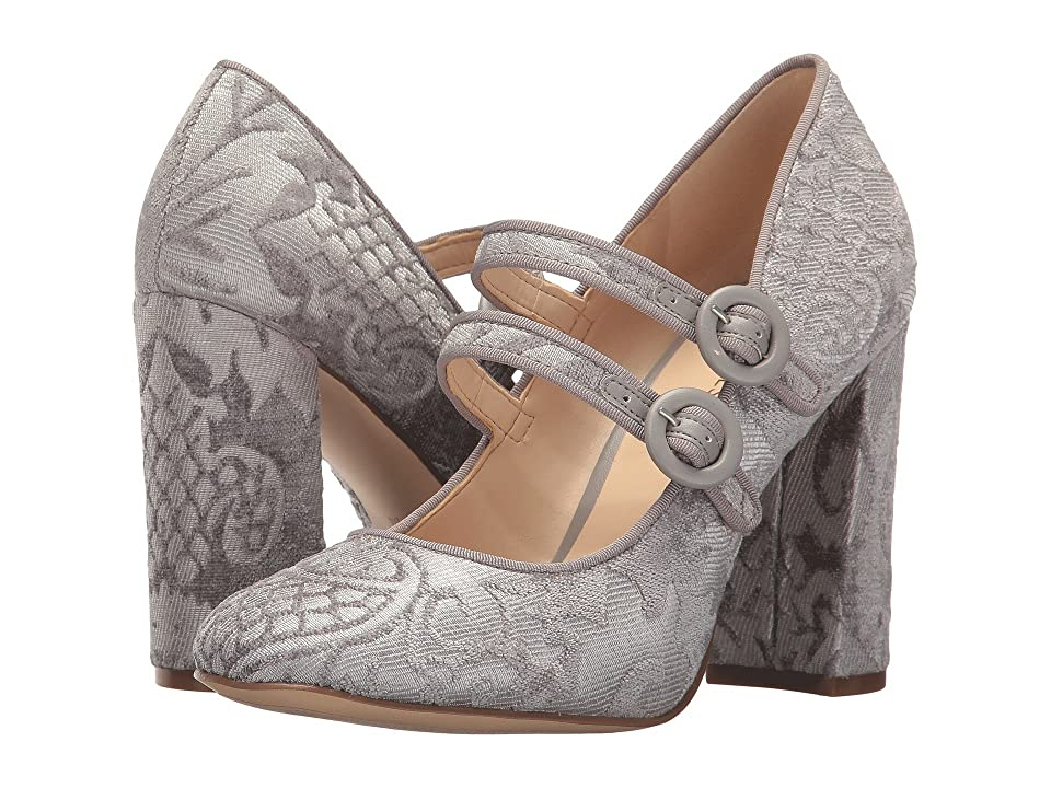 Nine West Dabney (Light Grey/Light Grey Fabric) High Heels