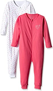 f46e61a48a NAME IT Baby-Mädchen Nitnightsuit Zip M G Noos Schlafstrampler (erPack 2