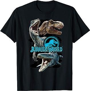 Jurassic World Paint Swipe Dinosaur Grid T-Shirt