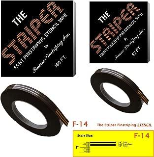 The Striper Paint Pinstriping Stencil Tape - Pinstripe Your Car/Truck   Striper: F-14   Results: 1/8