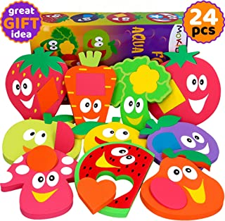 Bathtub Toys for Toddlers - Foam Bath Puzzles for Kids - Fun Baby Educational Toy for Girls & Boys - Fine Motor Skills - E...